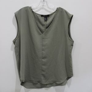 F21 sage green blouse